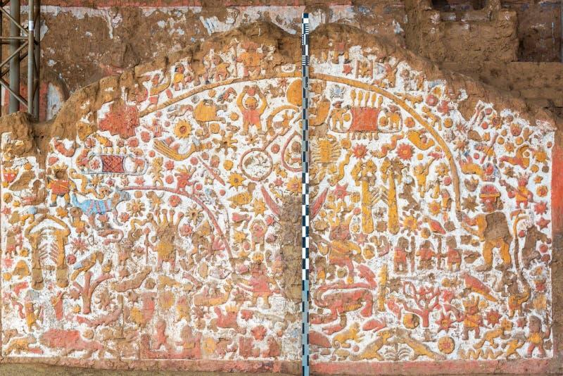 Mural antiguo en Perú fotografía de archivo libre de regalías