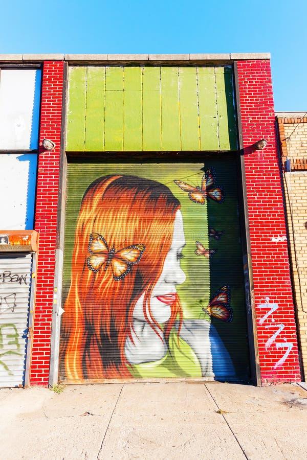 Mural art in Bushwick, Brooklyn, NYC stock photos