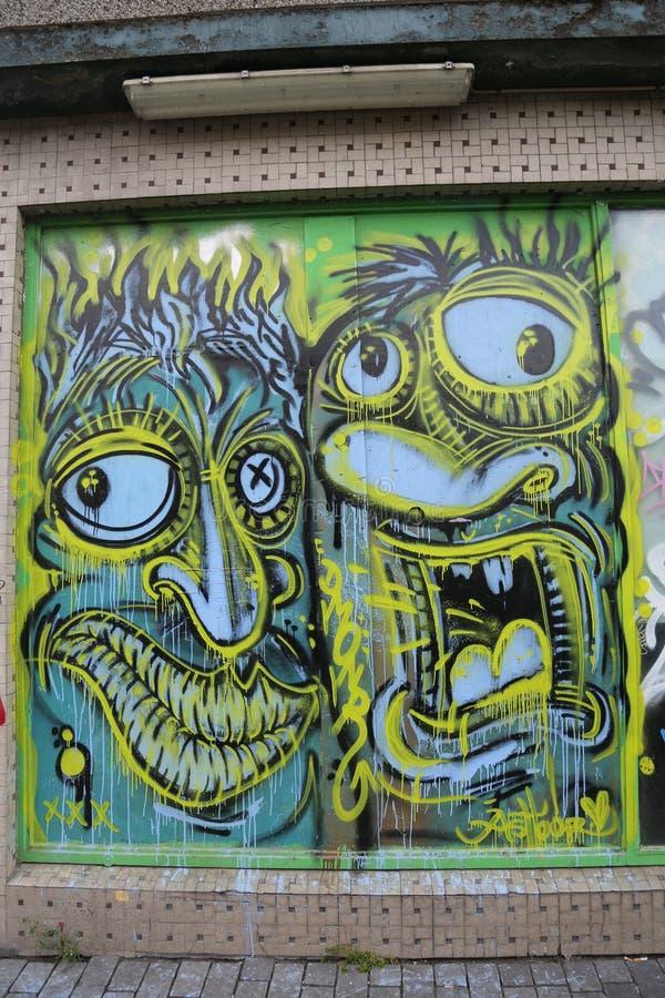 Mural art in Reykjavik, Iceland. REYKJAVIK, ICELAND - JULY 3, 2016: Mural art in Reykjavik, Iceland stock image