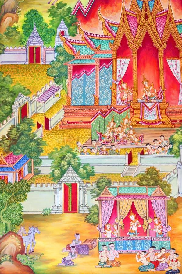 Download Mural Buddhist religion. stock illustration. Illustration of culture - 21148419