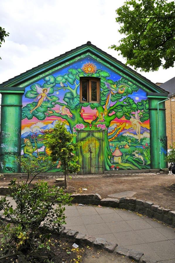 Mural In Christiania, Copenhagen Editorial Photography ...