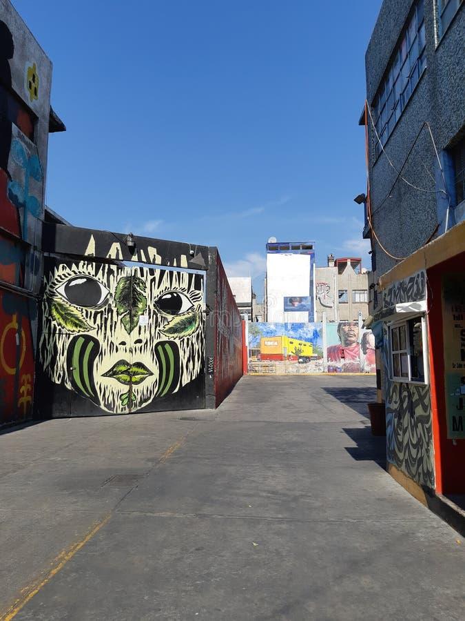 Mural. Colorido cielo es mexico stock photography
