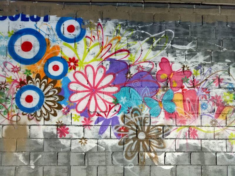 Mural colorido de la pintada imagen de archivo