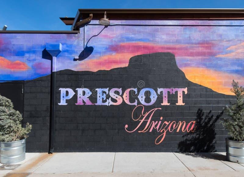 Mural colorido, Prescott Arizona imágenes de archivo libres de regalías