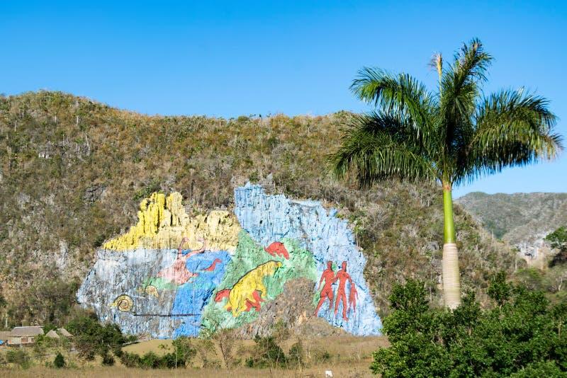 Mural de Λα Prehistoria στοκ εικόνα