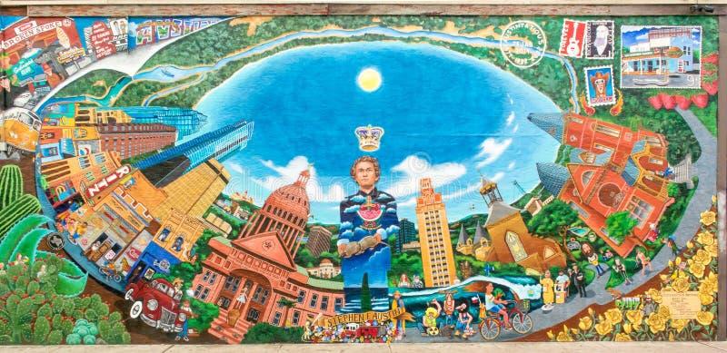 "Mural de ""Austintatious"" imagen de archivo libre de regalías"