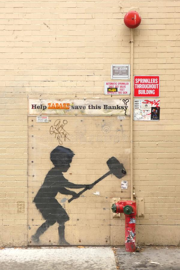 Mural de Banksy fotos de archivo