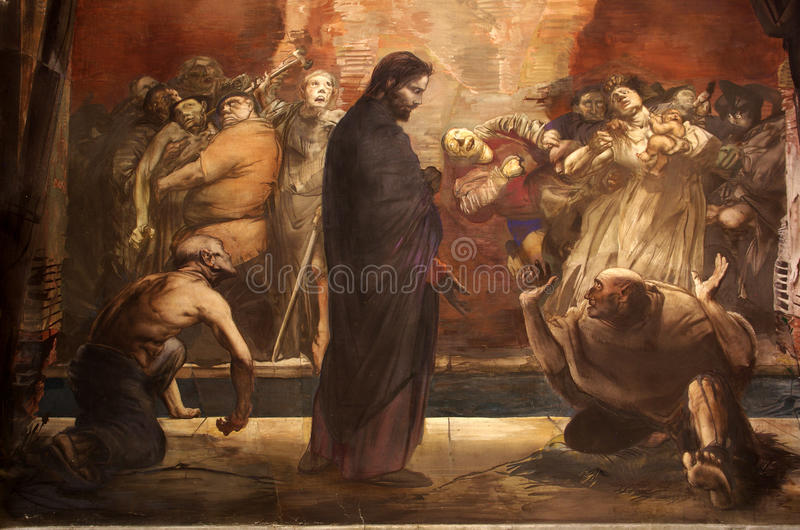 Mural de imitar de Jesús fotos de archivo
