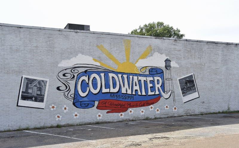 Mural de la pared de Coldwater Mississippi foto de archivo libre de regalías