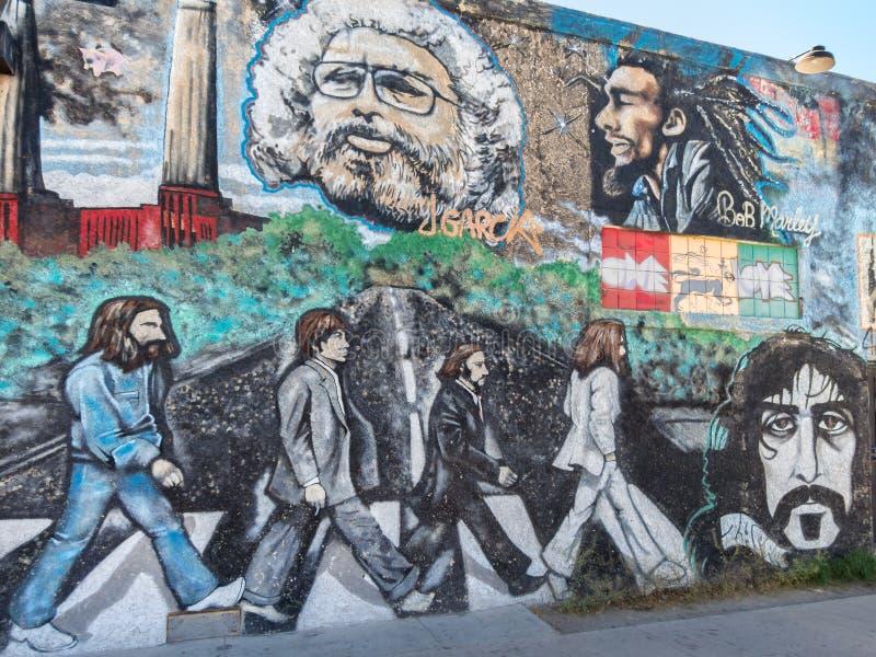 Mural de la pared, estrellas del rock idas demasiado pronto fotografía de archivo libre de regalías