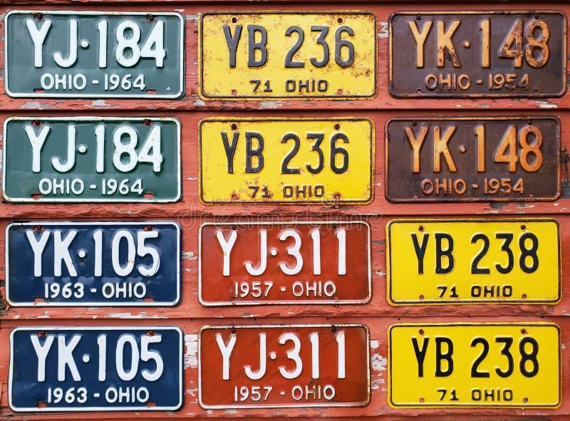 Mural de la placa de licencia de Ohio fotos de archivo libres de regalías