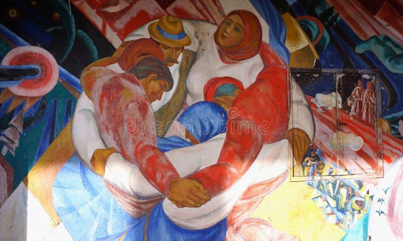 Mural de Pripyat imagenes de archivo