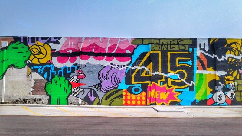 Mural 45 de Tulsa foto de archivo