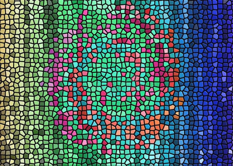 mural del arte del mosaico 3D imagenes de archivo