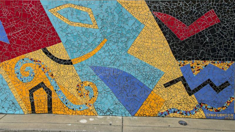 Mural del mosaico de Lynn Denton en Philadelphia del sur foto de archivo libre de regalías