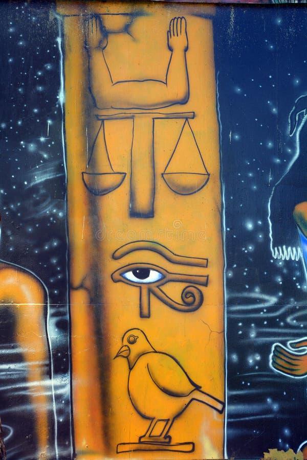 Mural of egyptian gods royalty free stock photos