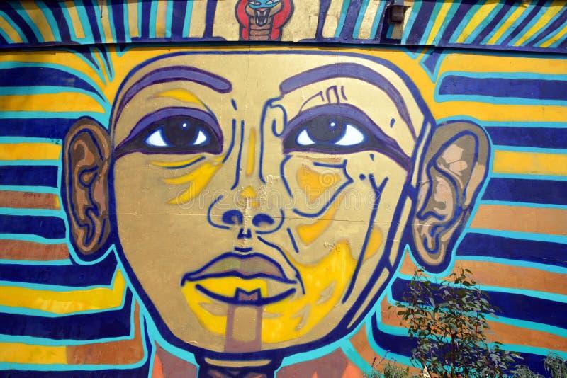 Mural of egyptian gods stock photography