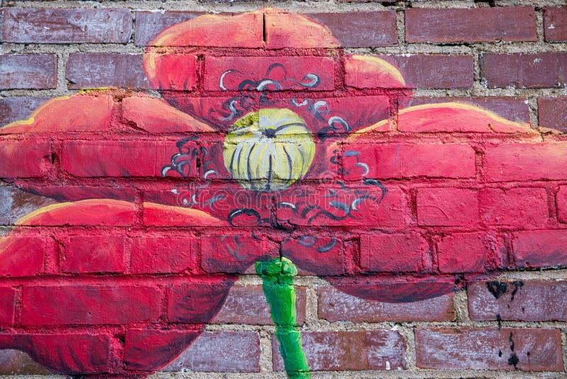 Mural en la pared de ladrillo en Brevard, Carolina del Norte imagen de archivo