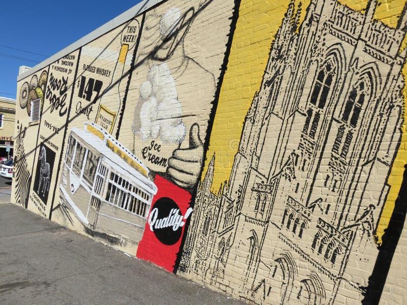 Mural grande en la calle de Macomb en Washington DC imagen de archivo libre de regalías