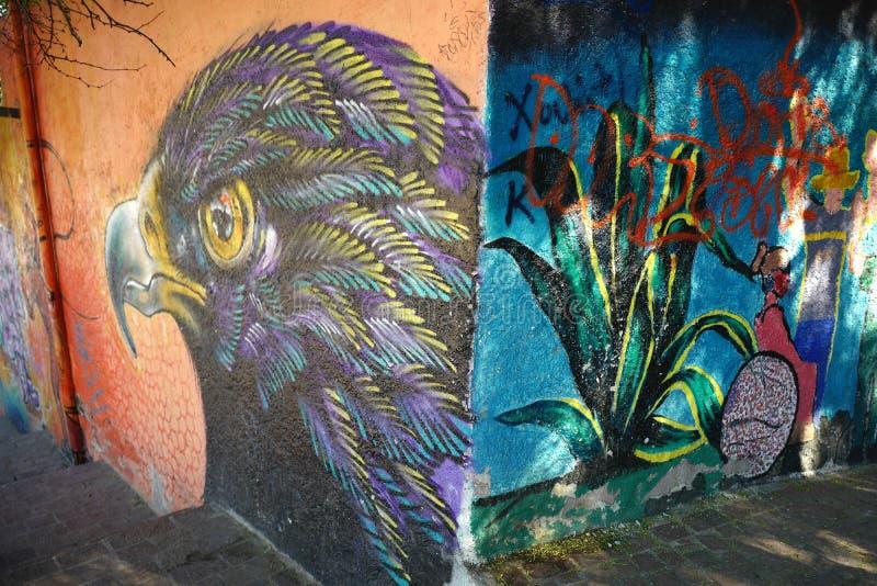 Mural in Guanajuato city, Mexico royalty free stock photos