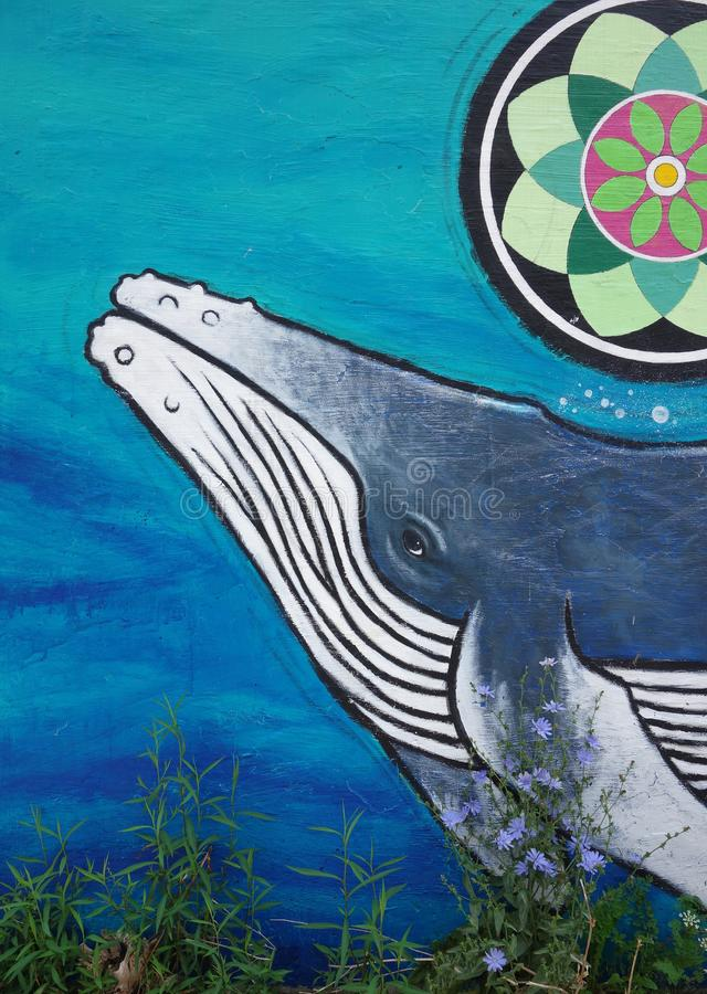 Humpback Whale Mural royalty free stock photography