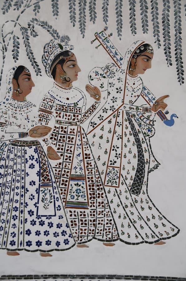 Download Mural of Indian Ladies stock photo. Image of lady, ladies - 3855350