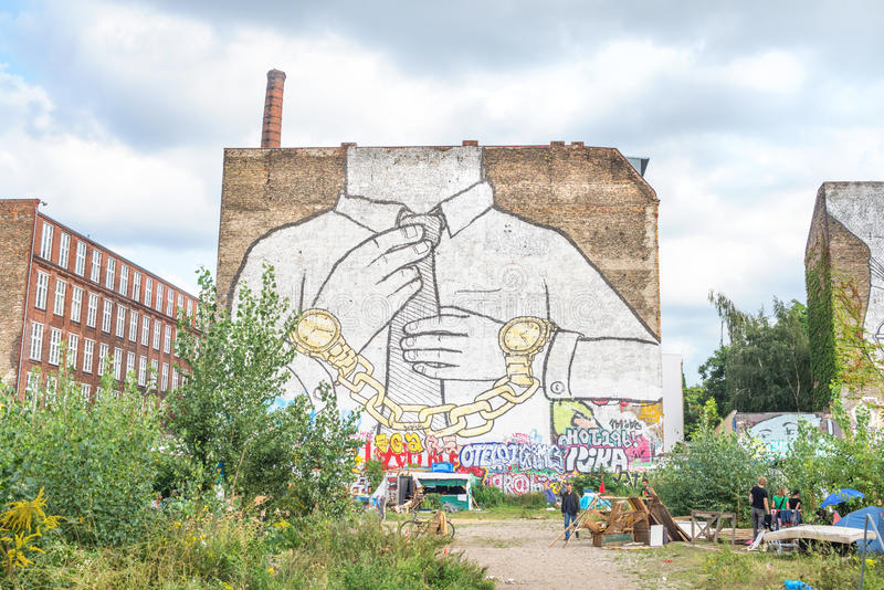 Mural in Kreuzberg, Berlin royalty free stock photography