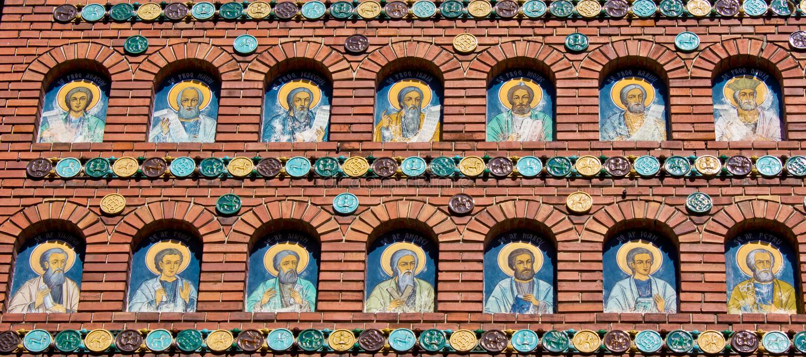 Download Mural painting stock illustration. Illustration of saints - 23250994