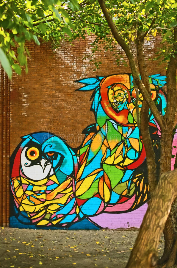 Mural Painting by CAM Brooklyn New York USA stock images