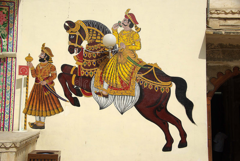 Download Mural Painting In Udaipur, Rajasthan Stock Image - Image: 7896931