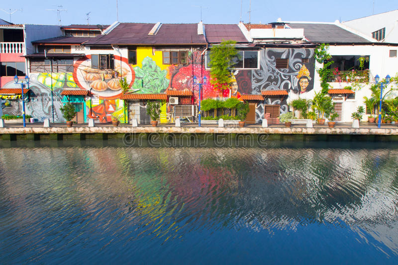 Download Mural paintings in Melaka editorial image. Image of town - 31805270