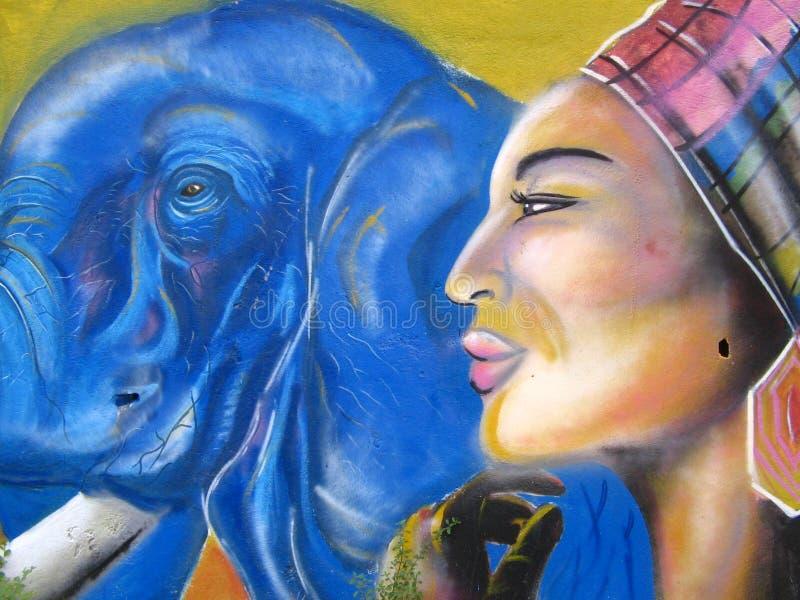 Mural pintado en una pared de la calle en la ciudad de Puerto Ordaz, Venezuela imágenes de archivo libres de regalías
