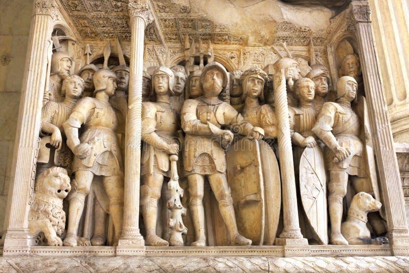Mural relief -II-  Castel Nuovo-Naples stock photos