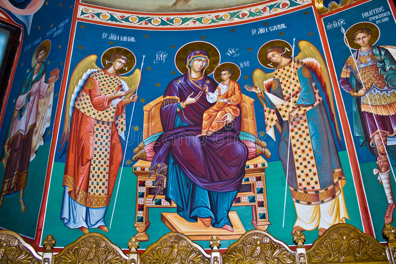 Download Mural religious paintings stock photo. Image of divine - 25756630