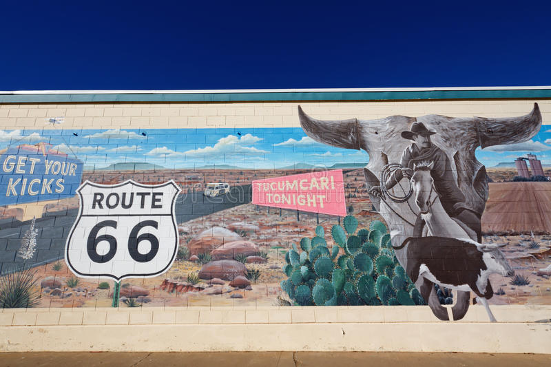 Download Mural on Route 66 editorial photography. Image of fashioned - 28929077