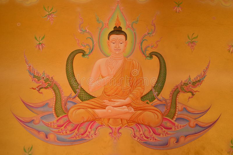 Mural Thai Style On Temple Royalty Free Stock Photography