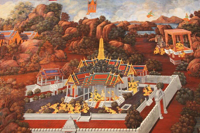 Mural Thailand Royalty Free Stock Photography