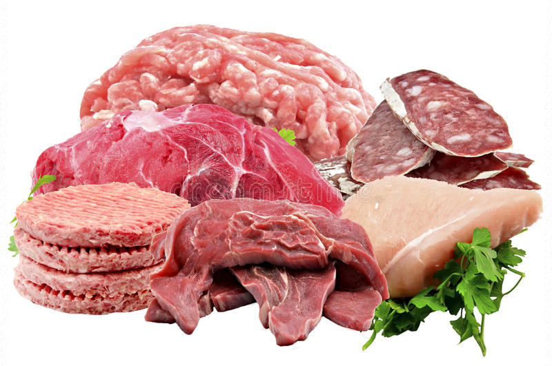 Mural Of Various Meats Royalty Free Stock Images