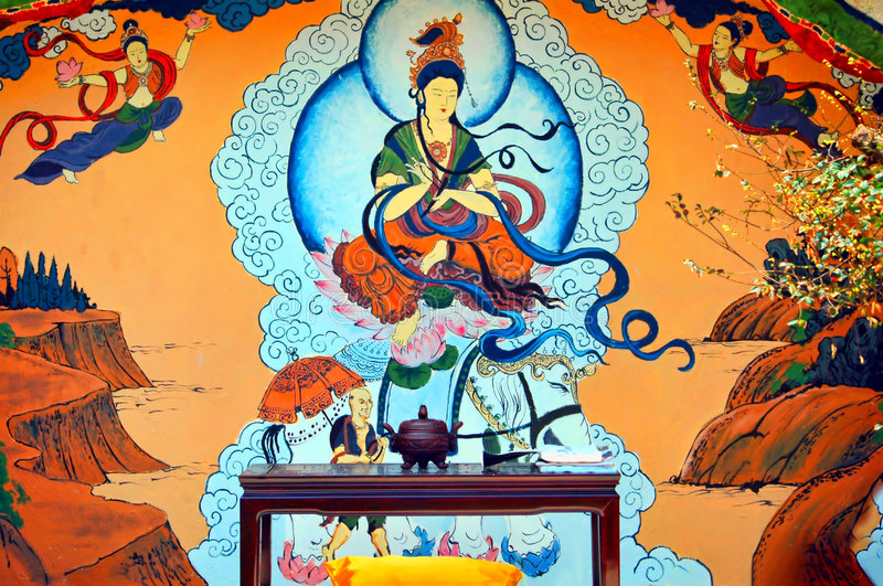 Download Mural On The Wall Stock Photo - Image: 8912140