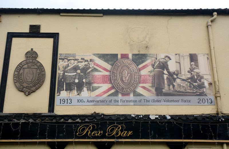 Murale dell'unionista, Belfast, Irlanda del Nord fotografie stock libere da diritti