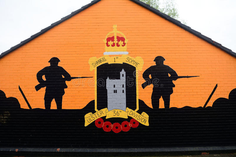 Murale dell'unionista, Belfast, Irlanda del Nord immagine stock libera da diritti