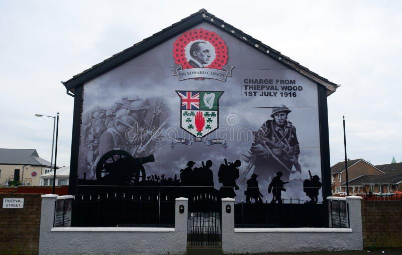 Murale dell'unionista, Belfast, Irlanda del Nord immagini stock