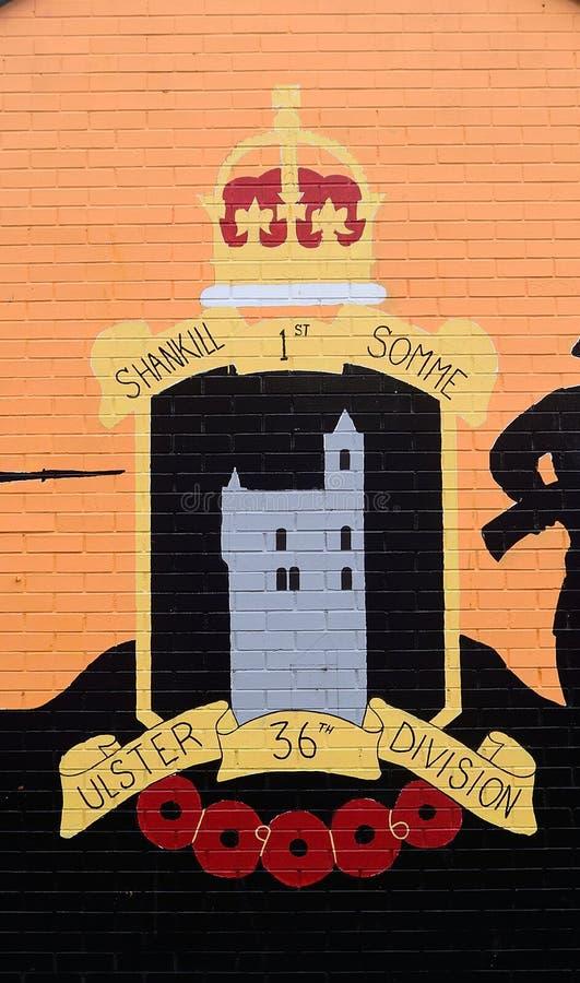 Murale dell'unionista, Belfast, Irlanda del Nord fotografia stock