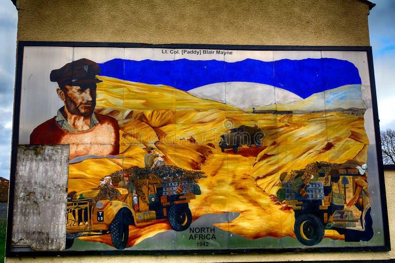 Murale dell'unionista, Newtownards, Irlanda del Nord fotografia stock