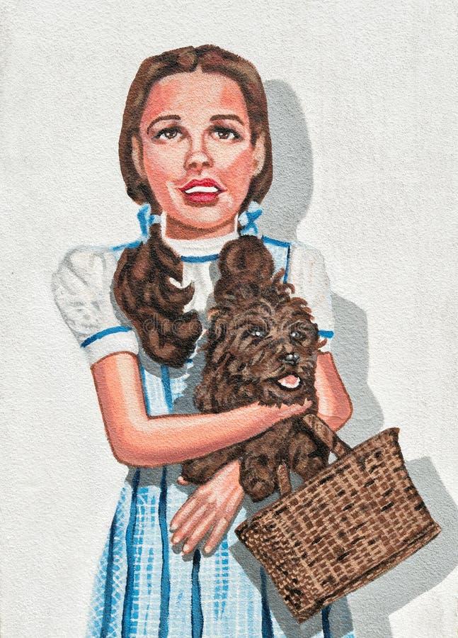 Murale della parete, Judy Garland fotografia stock