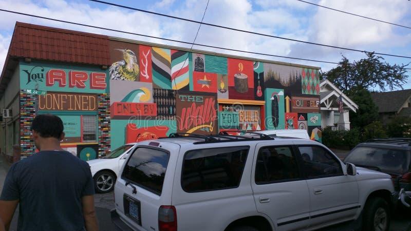 Murale della via a Portland fotografia stock