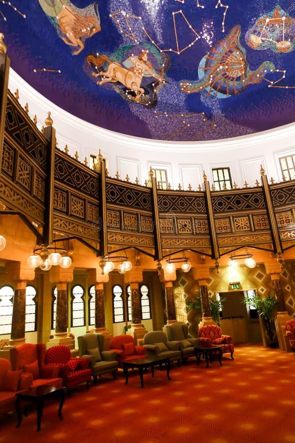 Murale dello zodiaco dentro il museo di Sharjah fotografia stock libera da diritti