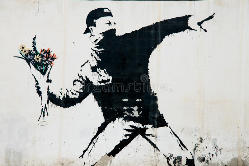 Murale di protesta di Banksy in Palestina