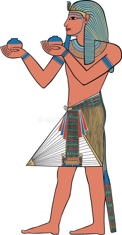 Murale egiziano antico, illustrazione di un re royalty illustrazione gratis