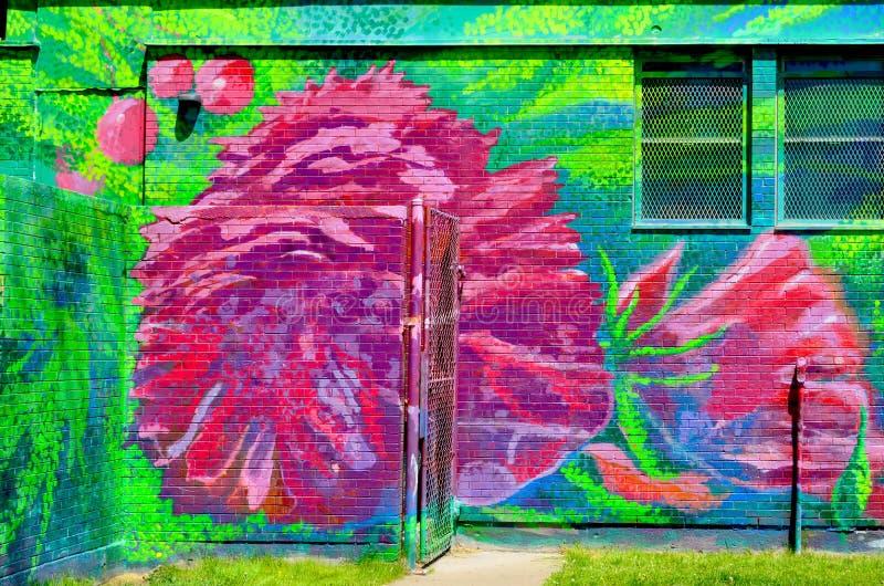 Murale Halifax del centro fotografie stock libere da diritti